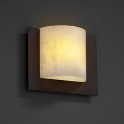 Justice Design Group LLC - Justice Design Group FSN-5560 - Framed Square 3-Sided Wall Sconce (ADA) - Dark B - Shop for Wall Mounted Lighting and Sconces from Hayneedle.com! About Justice DesignEndless inimitable lighting that's what Justice Design deals in. More than 200 different shapes. More than 35 different finishes. That's a huge amount of customization -- right at your fingertips. Speaking of fingertips each fixture is painstakingly crafted by skilled artisans by hand. Whether you're looking for indoor or outdoor lighting residential or commercial Justice Design is sure to have just the right fixture to match your needs and personality.