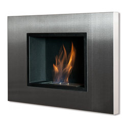 Ignis - Quadra Recessed Ventless Ethanol Fireplace - Fireplaces have come a long way! This modern version can be hung on any wall to give you the coziness you desire. It generates efficient and clean-burning heat from ethanol, so you don't have to fuss with continuously stoking a wood fire. It's also ventless, so dealing with chimney hassles is a thing of the past.