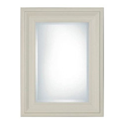 Uttermost Mario Rectangle Mirror - 31W x 41H in. - Classic clean and thoroughly tasteful our Mario Mirror breathes new life into dark spaces. This decorative piece seems to almost glow with its graduated frame hand-rubbed in your choice of two beautiful finishes. Generously beveled for extra sparkle the looking glass is given a thick protective backing to prevent oxidation.