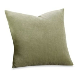 Sure Fit - Sure Fit Stretch Sterling Decorative Pillow - With its subtle stripe design and fresh color, this luxurious pillow adds texture and comfort to any room.