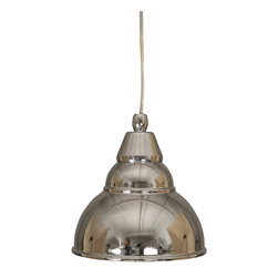 "Toltec - Toltec 22-Ch-427 Cord Mini Pendant Shown in Chrome Finish - Toltec 22-CH-427 Cord Mini Pendant Shown in Chrome Finish with 7"" Chrome Metal Shade"