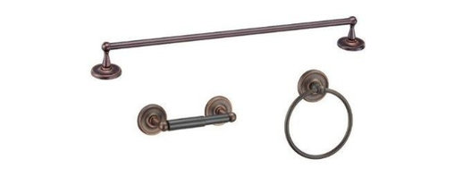 Designers Impressions - Maxim Series 3 Piece Oil Rubbed Bronze Bathroom Hardware Set - Finish: Oil Rubbed Bronze