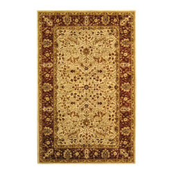 """Safavieh - Persian Legend Brown/Maroon Area Rug PL511B - 2'6"""" x 12' - Inspired by the legendary designs of Persia's most prestigious rug-weaving capitals, these extraordinary reproductions recreate some of the most prized antiques in Safavieh's archival collection. Intricate Tabriz, Lavar Kerman and Isfahan hand-knotted motifs are remarkably adapted to these hand-tufted rugs of incomparable quality. The finest New Zealand wool is chosen to achieve the intricate weave of these carpets. With utmost attention to every detail, Safavieh creates its Persian Legends Collection in India to provide consumers an exquisite yet affordable artisan-crafted look."""