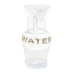 Water Pitcher - Stay hydrated and healthy this summer with plenty of water in this glass 84 oz water pitcher! You won't get confused with the liquid inside with the word 'water' reading across the front .