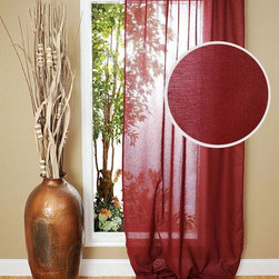 Home Decorators Collection - Gage Cotton Curtain Panel - Experience the classic look and feel of our Gage Cotton Curtain Panels. Featuring a traditional but stylish look, the sheer elegant design blends well with a variety of styles. Panels are sold individually. Rod pocket and tab top options. Spot clean only. Available in a variety of colors.