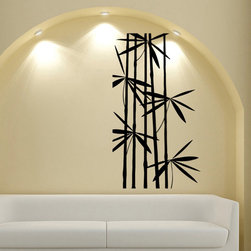 None - Bamboo Vinyl Wall Decal - This vinyl decal from offers a beautiful,high quality vinyl design that transfers to most walls in with simple application. This vinyl design is made from matte indoor vinyl that works well on any smooth to semi-smooth surface.