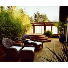 asian patio by Leeza Designs