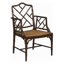 Chinese Chippendale Dining Chairs - Chinese Chippendale chair with cane seat on charlotteandivy.com