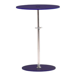 Zuo Modern - Zuo Modern Radical Modern Side Table X-351104 - Constructed of tempered glass and chrome, the Radical side table features an adjustable mechanism for every leisure setting.