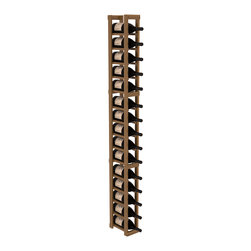 Wine Racks America - 1 Column Magnum/Champagne Cellar Kit in Redwood, Oak + Satin Finish - Talk about magnum force! This sturdy wooden wonder accommodates large bottles and looks great doing it. So go ahead, order that case of champagne!