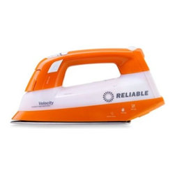 Reliable - Reliable Velocity V50 Compact Vapor Generator Iron - Iron will not spit or leak and produces continuous volumes of steam even at low temperatures. Removes wrinkles like a professional iron and features a patented two heating element design.