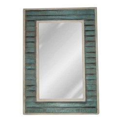 Hickory Manor House - Plank Mirror in Sea Mist Finish - Vintage original. Custom made by artisans unfortunately no returns allowed. Enhance your decor with this graceful mirror. Made in the USA. Made of pecan shell resin. 21.5 in. W x 41 in. H (24 lbs.)