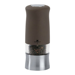"Peugeot - Peugeot Zephir Basalte Soft Touch Electric Pepper Mill 14cm/5.5"" - Available in 2 Colors: Black, and Basalte"