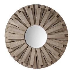 Murray Feiss - Murray Feiss Weathered Discus Round Mirror - Murray Feiss Weathered Discus Contemporary Round Mirror X-YGW6411RM