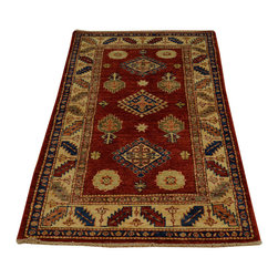 1800-Get-A-Rug - Hand Knotted 100% Wool Tribal Design Super Kazak Oriental Rug Sh16706 - Our Tribal & Geometric hand knotted rug collection, consists of classic rugs woven with geometric patterns based on traditional tribal motifs. You will find Kazak rugs and flat-woven Kilims with centuries-old classic Turkish, Persian, Caucasian and Armenian patterns. The collection also includes the antique, finely-woven Serapi Heriz, the Mamluk Afghan, and the traditional village Persian rug.