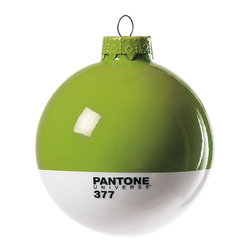 Pantone Universe Globe Ornament - If you wait with bated breath for the announcement of Pantone's color of the year every year, this clever and graphically pleasing globe is just right for your tree. Wouldn't it be a stitch to have a tree covered in all of the colors they offer?