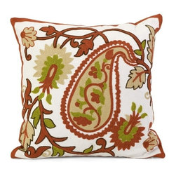 IMAX CORPORATION - Sabra Square Pillow - Complete your look with the Sabra pillow and add a bright touch of style to your room. Find home furnishings, decor, and accessories from Posh Urban Furnishings. Beautiful, stylish furniture and decor that will brighten your home instantly. Shop modern, traditional, vintage, and world designs.