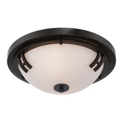Artcraft Lighting - Artcraft Lighting Andover Transitional Flush Mount Ceiling Light X-BO1332CA - The Andover Collection features a rich oil rubbed bronze finish with an opal glass dome. A stunning flushmount design