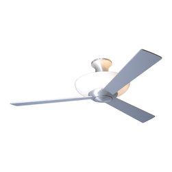 "Modern Fan Company - Modern Fan Company Aurora Hugger Brushed Aluminum 52"" Ceiling Fan + Wall Control - Features:"