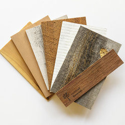 "Stikwood - Reclaimed Wood Sample Set - Included is 6-8 x 5"" sample piece of:"