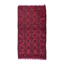 West of Hudson - Overdyed Vintage Tribal Fuchsia Rug, 2.67x4.5 Ft. - Handknotted one of a kind over-dyed rug with vibrant colors. West of Hudson is proud to offer authentic vintage and new hand knotted rugs that that are carefully selected for our exclusive overdye collection. Each rug is a unique work of art. 100% handmade from start to finish.