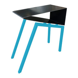Deadleaf Designs - Acme Side Table, Ball Blue - - Designed and hand-made in America