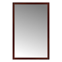 """Posters 2 Prints, LLC - 49"""" x 76"""" Ansley Mahogany Custom Framed Mirror - 49"""" x 76"""" Custom Framed Mirror made by Posters 2 Prints. Standard glass with unrivaled selection of crafted mirror frames.  Protected with category II safety backing to keep glass fragments together should the mirror be accidentally broken.  Safe arrival guaranteed.  Made in the United States of America"""