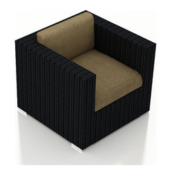 Urbana Modern Patio Club Chair, Charcoal Cushions