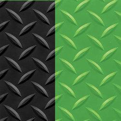 "buyMATS Inc. - 3' x 10' Diamond Foot 9/16"" Black/Green - Features:"