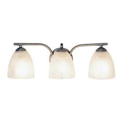 AF LIGHTING - Incandescent Lighting Collection, Bath Vanity 3-Light, Brushed Nickel - Add a splash of elegance and exquisite style to your bathroom. This contemporary three-light vanity fixture in a brushed nickel finish will illuminate your bathroom's brilliant decor.