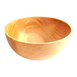 """Turner In The Woods - Thin Rimmed Pear Bowl - This is a very thin rimmed pear bowl. The wall of this piece is just 1/8"""" thick. This piece was turned, sanded to a fine sheen and then finished with all natural carnauba wax and mineral oil. Use this bowl to store keepsakes like jewelry or simply display it for the artwork that it is. Signed and dated by the artist."""