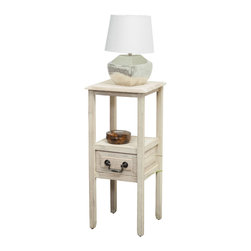 Great Deal Furniture - Noah Acacia Wood Accent Table w/ Bottom Drawer, Reclaimed - With the Noah acacia wood accent table, you get the beauty of a smooth finish with the strength of true acacia wood. Perfect as a side table or as a display piece in your living room, bedroom or any other room.
