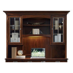 Hooker - Hooker Latitude Computer Credenza Hutch - Stash away items in the adaptable build of this Latitude Computer Credenza Hutch. A versatile build and attractive looks make a winning combination with the matching computer credenza. With the addition of this hutch, it is easy to provide storage and display space.