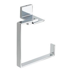 Liberty Hardware - Liberty Hardware 77746 Vero - Delta 6.5 Inch Towel Holder - Polished Chrome - The minimalist styling of the Vero collection gives your bath the look of an urban oasis. Available in Brilliance Stainless or Polished Chrome finish, the sleek lines of Vero create a thoroughly modern yet timeless feel. This collection complements the Vero faucet collection by Delta. Width - 6.5 Inch, Height - 6.5 Inch, Projection - 2.94 Inch, Finish - Polished Chrome, Weight - 1.55 Lbs.