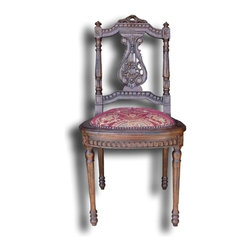 EuroLux Home - New Chair Red Fabric Turned Lyre Back - Product Details