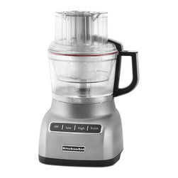 KitchenAid - KitchenAid RKFP0922CU Contour Silver 9-cup Food Processor (Refurbished) - This 9-cup food processor from KitchenAid easily slices soft to hard foods with the optimized speeds,from thick to thin. The 3-in-1 Ultra Wide Mouth Feed Tube accommodates a variety of sizes of food.