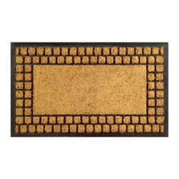 Imports D̩cor - Checker Border Door Mat (ID703RBCM) - Checker Border