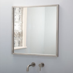 Leona Stainless Steel Mirror - The Leona Stainless Steel Mirror will add a sleek accent to your bathroom. This mirror is made from high quality 304-grade stainless steel and uses a durable french cleat mounting system.