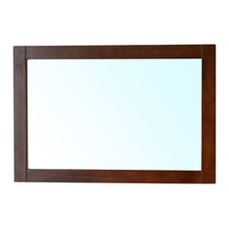 Bellaterra Home - Mirror Wood Frame-Walnut - Solid wood mirror cabinet for storage and all wood construction on the mirror frame. Quality mirror with finish to prevent rusting against humidity in bathroom. Dimension: 8.7 S x 8.7 D x 23.6 W