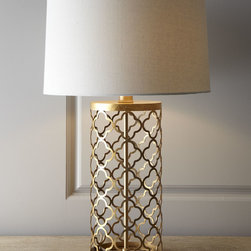 Quatrefoil Drum Lamp -