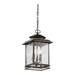 Kichler Lighting - Kichler Lighting 49544OZ Pettiford Olde Bronze Outdoor Hanging Lantern - Kichler Lighting 49544OZ Pettiford Olde Bronze Outdoor Hanging Lantern