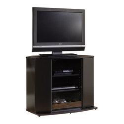 Sauder - Sauder Select Corner TV Stand in Black - Sauder - TV Stands - 165454 -