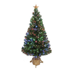 None - 48-inch Multi-color LED Fiber Optic Christmas Tree - Add some Christmas cheer this season with this shimmering fiber optic tree. With a solid base and top star, this tree is the perfect way to celebrate the holidays.