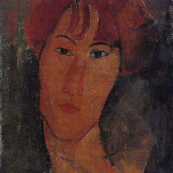 """Art MegaMart - Amedeo Modigliani Portrait of Pardy - 21"""" x 28"""" Premium Canvas Print - 21"""" x 28"""" Amedeo Modigliani Portrait of Pardy premium canvas print reproduced to meet museum quality standards. Our museum quality canvas prints are produced using high-precision print technology for a more accurate reproduction printed on high quality canvas with fade-resistant, archival inks. Our progressive business model allows us to offer works of art to you at the best wholesale pricing, significantly less than art gallery prices, affordable to all. We present a comprehensive collection of exceptional canvas art reproductions by Amedeo Modigliani."""