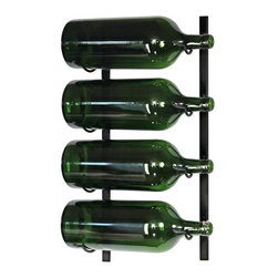 Vintage View Big Bottle Wall Mounted Wine Rack - Quench your thirst for stylish compact wine storage with the Vintage View Big Bottle Wall Mounted Wine Rack. Crafted from strong durable steel in your choice of finish it works in virtually any space and provides convenient space-efficient wine storage right on your wall. This metal wine rack is designed to hold 3- to 6-liter wine bottles and it keeps them at a proper angle to ensure corks stay moist. The design also allows for a full view of the bottle labels so you can easily find a particular vintage. This wall-mount wine rack requires assembly and includes detailed instructions and all necessary hardware. About Wine Master Cellars for Vintage ViewWine Master Cellars manufactures and sells wine storage and display systems that combine quality craftsmanship and an innovative aesthetically pleasing design. In 2001 company owner Doug McCain created the patented Vintage View label-forward wine racking display system and it has since become one of fastest growing metal modular systems in the United States. Wine Master Cellars products are used in homes wine stores hotels grocery stores bars and restaurants around the world. The company has an office and showroom in Denver Colorado and prides itself in helping its customers create the wine cellar of their dreams. About Wine Master CellarsWine Master Cellars manufactures and sells wine storage and display systems that combine quality craftsmanship and an innovative aesthetically pleasing design. In 2001 company owner Doug McCain created the patented Vintage View label-forward wine racking display system and it has since become one of fastest growing metal modular systems in the United States. Wine Master Cellars products are used in homes wine stores hotels grocery stores bars and restaurants around the world. The company has an office and showroom in Denver Colorado and prides itself in helping its customers create the wine cellar of their dreams.