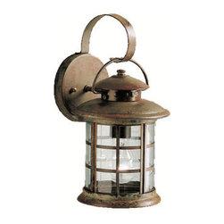 "Kichler - Kichler 9760RST Rustic Collection 1 Light 13"" Outdoor Wall Light - Kichler 9760 Rustic Outdoor Lantern"