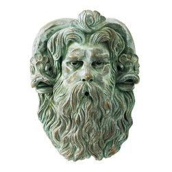 pool fountain spitter neptune head - Bronze, Verdi Metal finish Neptune head fountain.