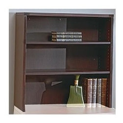 Office Star - Three-Shelf Wood Hutch for Home/Office - Napa - Color: CherryMade of Wood. Select hardwood veneers, book-matched. Solid hardwood edges. Radius wood edges on tops and modesty panels. Compound radius corners on tops. Common grain direction on tops of all components of L and U workstations. Pictured in Mahogany Wood. Some assembly required. 36 in. W x 14 in. L x 36 in. H