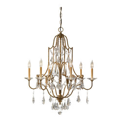Murray Feiss - Oxidized Bronze Valentina 6 Light 1 Tier Chandelier - Lamping Technologies: