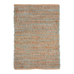 Jaipur Rugs - Natural Solid Pattern Jute/Cotton Blue Rug - HM09, 3.6x5.6 - Handwoven in Jute and soft fibers and materials like; Chenille, rayon yarn and cotton, the Himalaya collection has a variety of textures and looks, all at home in a variety of living environments.